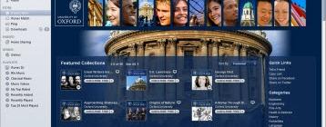Screenshot of Oxford University on iTunesU