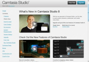 Screenshot Camtasia upgrade