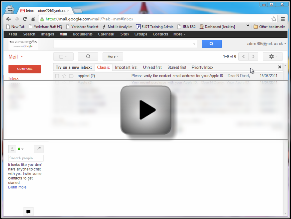 Video demonstrating how to filter announcement emails in Gmail