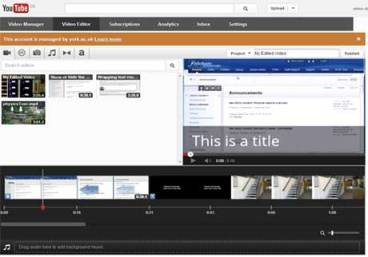 YouTube video editor screenshot