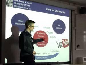 Prof David Smith presenting