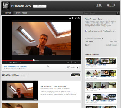 Professor Dave YouTube Channel