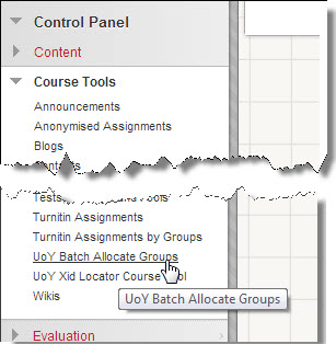Batch Allocate Groups tool