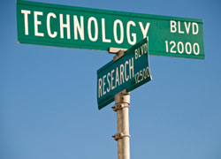 technology research road signs
