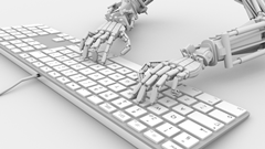 Robot operating keyboard