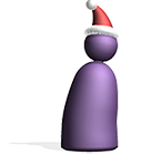 Pawn with Santa Hat on