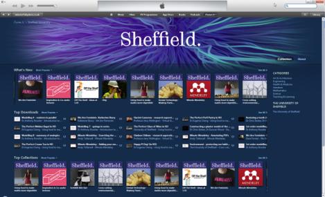 Sheffield University on iTunesU