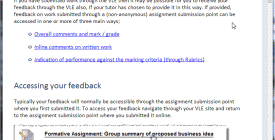Access feedback guide inage
