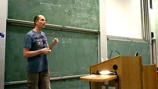 Phil Lightfoot in lecture mode - click to view presentation recording