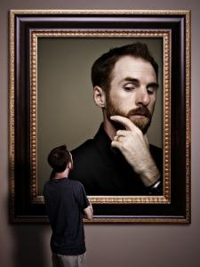 Man looking at image