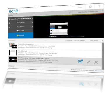 Echo360 Personal Capture Main Interface Version 5.4