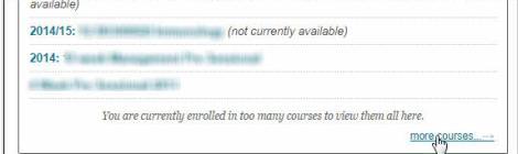 More courses module list