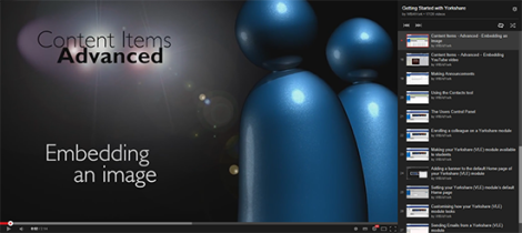 Screen Shot from YouTube of the PlayList Screen