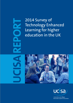 UCISA 2014 TEL survey