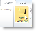 Add comment feature in word