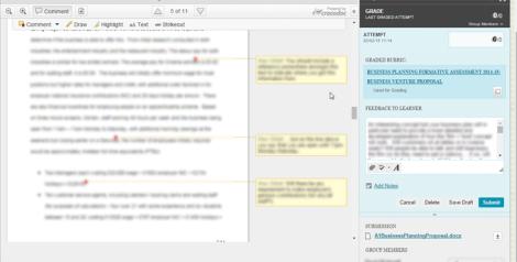 Online marking in the VLE