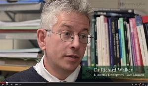 Peer observation introduction video still frame showing Dr Richard Walker.