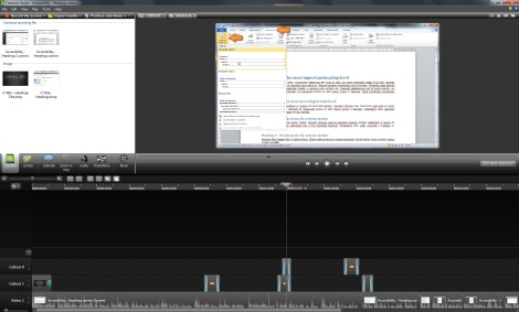 Screenshot of Camtasia Editor