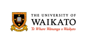 """The University of Waikato coat of arms. The motto, Ko Te Tangata, means """"For the People""""."""