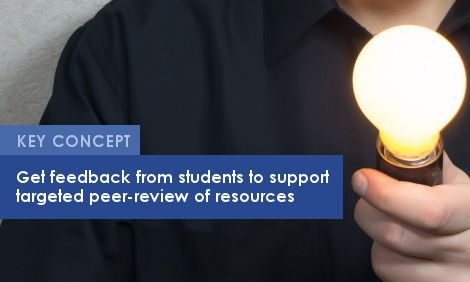 Key Concept: Get feedback from students to support targeted peer-review of resources