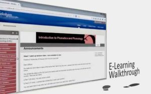 E-Learning Walkthrough