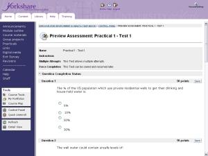 screenshot of Environment & Health module