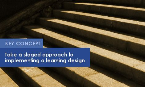 Key Concept: Take a staged approach to implementing a learning design.