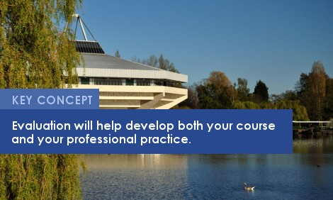 Key Concept: Evaluation will help develop both your course and your professional practice.