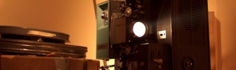 Photo of old fashioned film projector