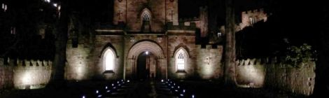 Durham Castle Entrance at Night