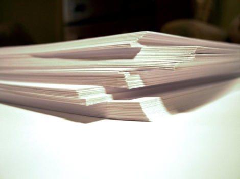 Image of a stack of paper
