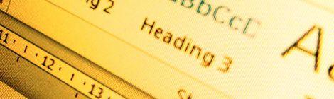 Screenshot showing Heading Styles in Microsoft Word