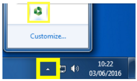 Screenshot of the Panopto system tray icon on Windows 7