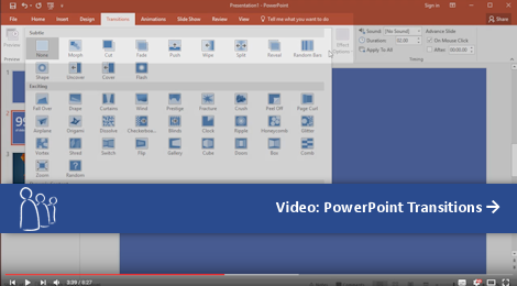 Video: PowerPoint Transitions (Click to Play via YouTube)