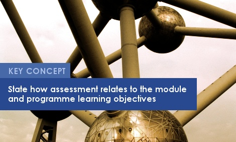 Key Concept: State how assessment relates to the module and programme learning objectives