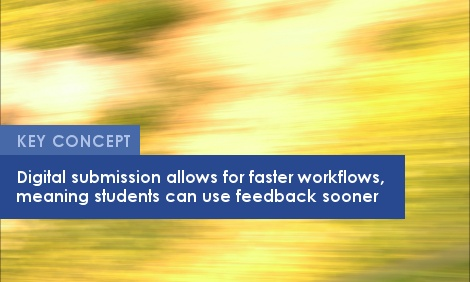 Key Concept: Digital submission allows for faster workflows, meaning students can use feedback sooner.