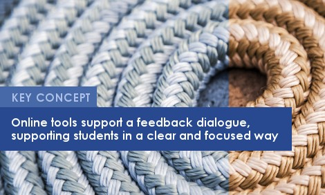 Key Concept: Online tools support a feedback dialogue, supporting students in a clear and focused way.