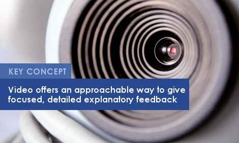 Key Concept: Video offers an approachable way to give focused, detailed explanatory feedback.