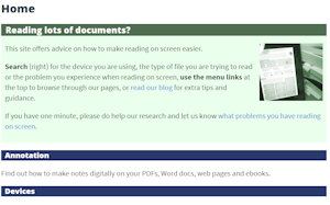 Wordpress Example: Reading on Screen