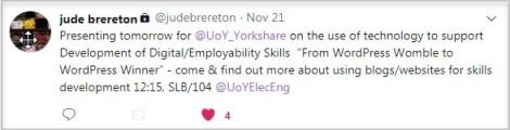 screenshot of Jude's tweet