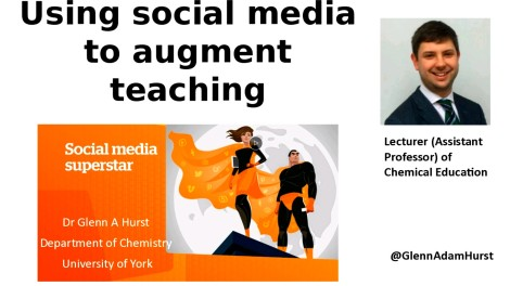 Using social media to augment teaching - presentation title slide