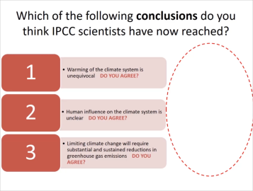 A slide from Fiona Dickson's collaborate session