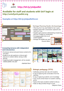 Padlet poster from teaching and learning conference, 2019