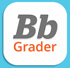 """Icon for the """"Bb Grader"""" App, just text stating """"Bb Grader"""" on a white background"""