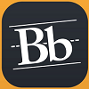 """Icon for the """"Mobile Learn"""" App, just white text stating """"Bb"""" on a black background"""