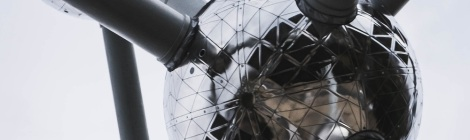 Decorative banner image - photograph of The Atomium landmark building, shaped like an iron atom