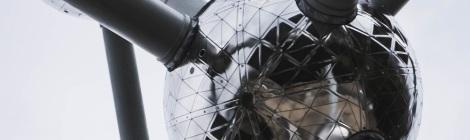 Decorative banner image - photograph of The Atomium landmark building, shaped like an iron atom
