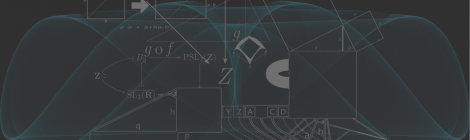 Abstract background with maths and shapes.
